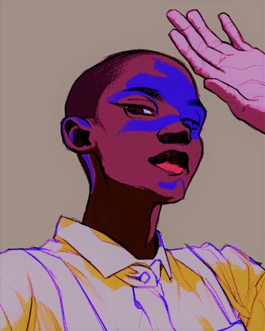 On Instagram I Feel Like I M Going Thru A Neon Phase Digital Art Drawing Illustration Digita Emotional Art Digital Art Illustration Drawings