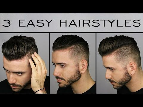 3 Ways to Style a Undercut | Mens Hairstyle Tutorial YouTube