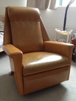1970s Vinyl Armchair Recliner Chair Retro Vintage 60s Retro