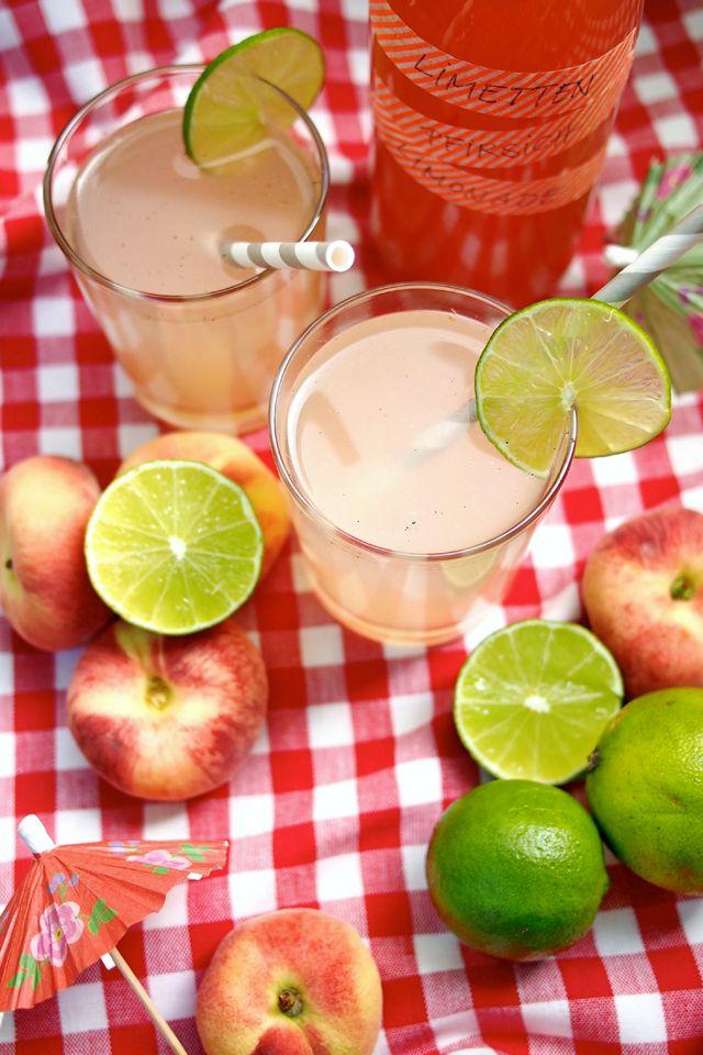 Limetten-Pfirsich-Limonade mit einem Hauch Vanille   Pfirsich ...