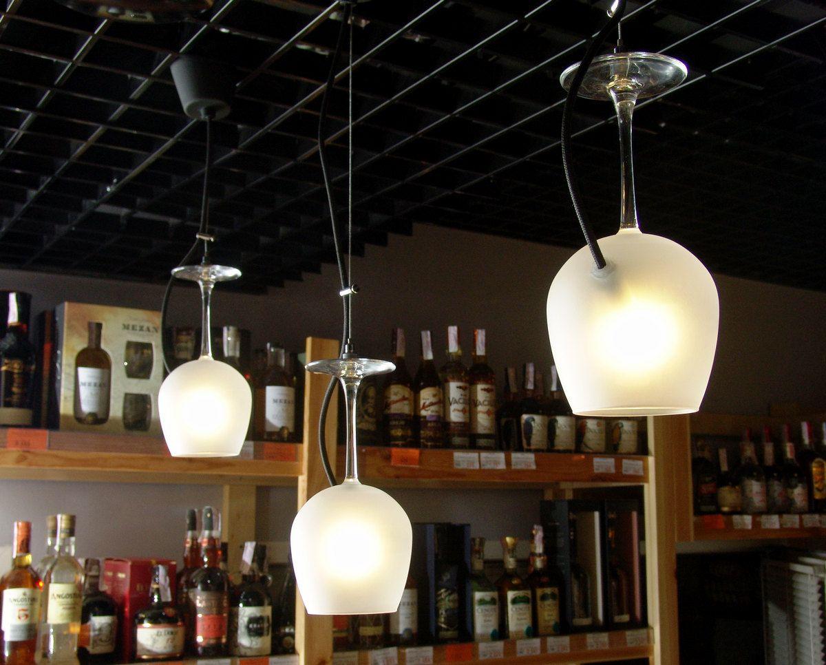 Pendant Light Of Wine Gl Lighting Restaurant