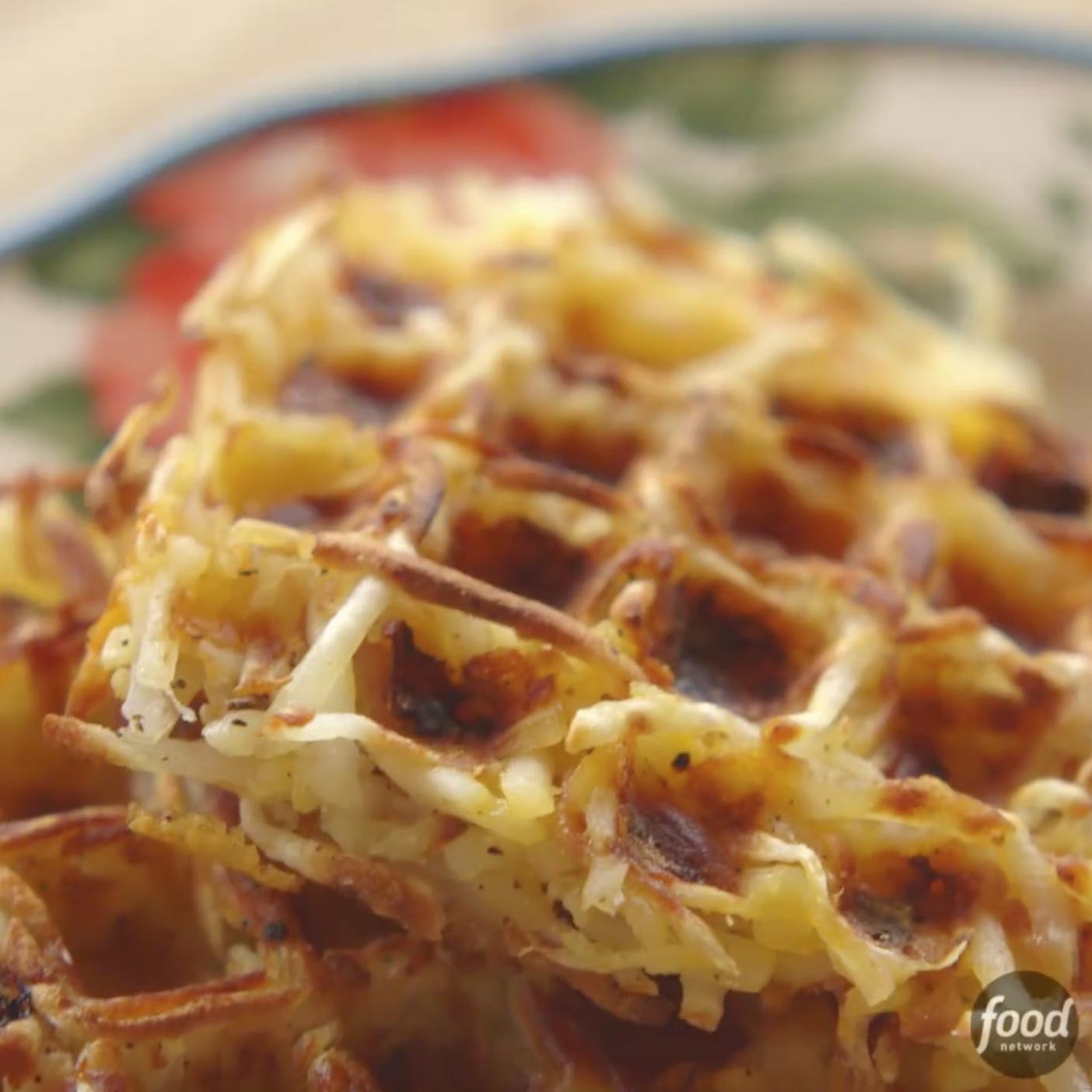 Wafflemaker Hash Browns Recipe In 2019 Food Network' Top 100 Videos Waffles Breakfast