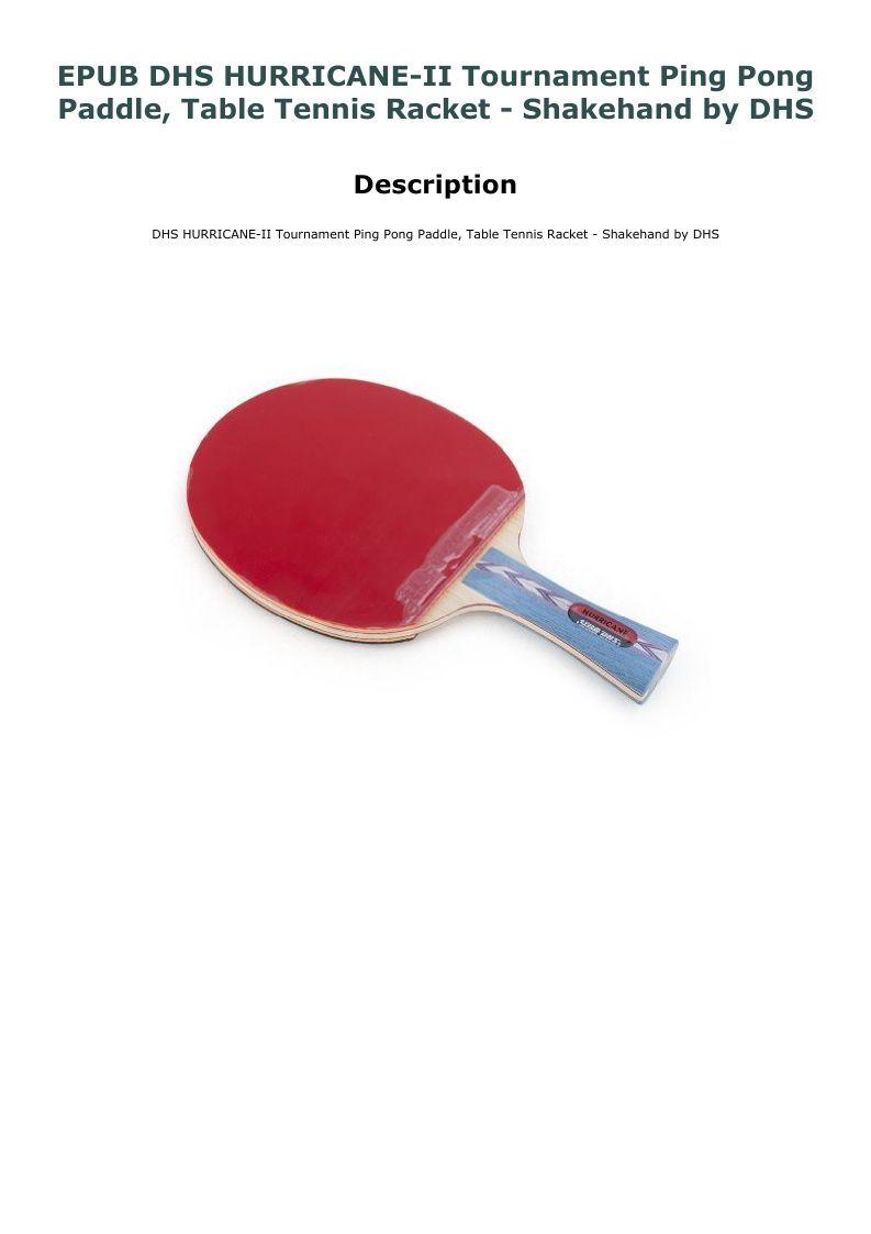 DHS Hurricane 2 Table Tennis Rubber