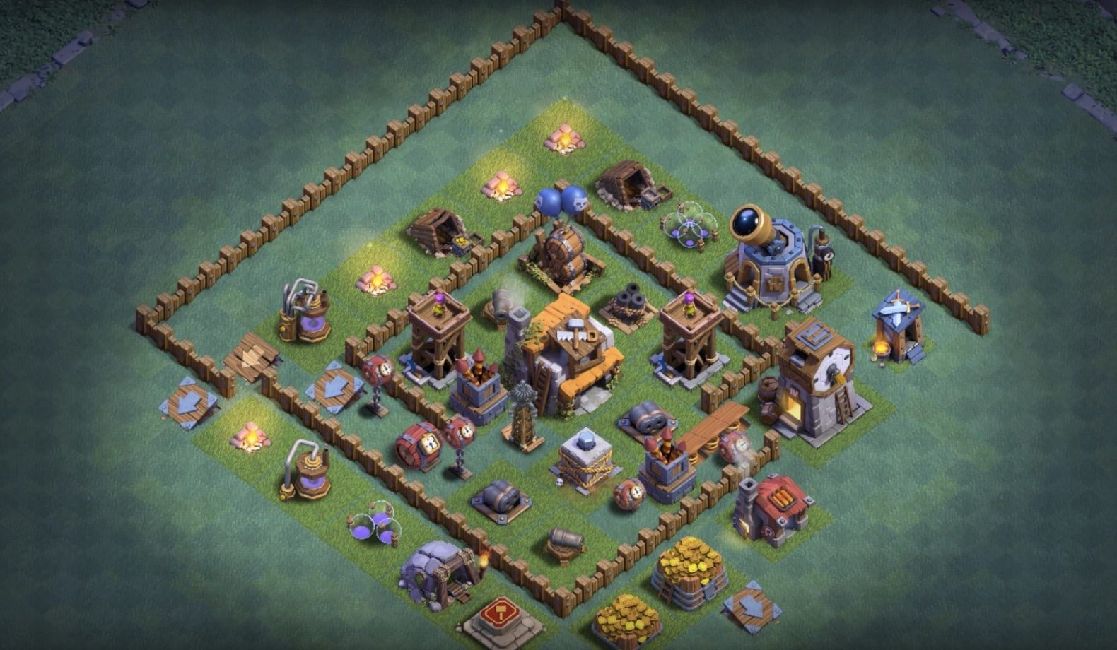 Clash Of Clans Builders Hall 5 Base Bh5 Base Layouts For Builder Hall 5 Anti 2 Star Clash Of Clans Clan Layout