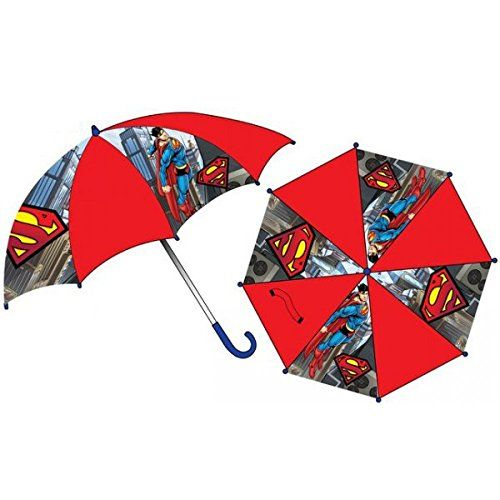 DC COMICS - Clásico  Rojo rojo - http://comprarparaguas.com/baratos/dc/superman/dc-comics-clasico-rojo-rojo/