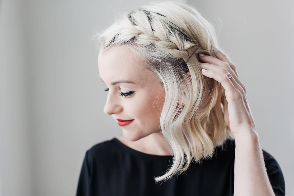 How To Do A Side Braid On Short Hair Poor Little It Girl Braids For Short Hair Side Braid Hairstyles French Braid Hairstyles