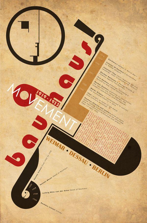 Bauhaus Inspiration อักษร