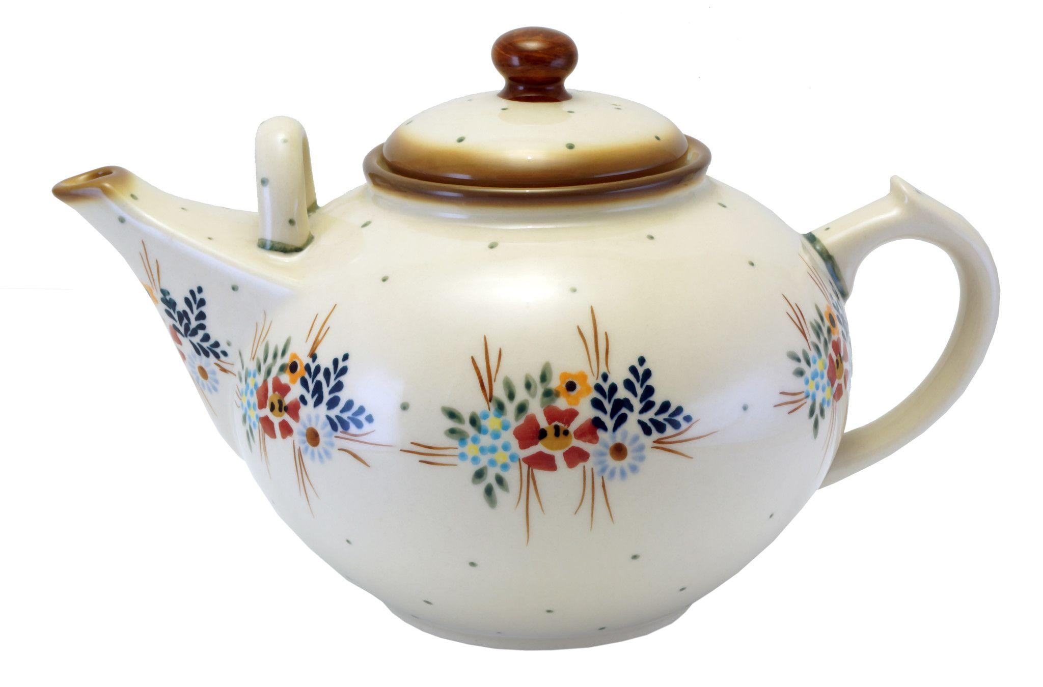 Polish Pottery - The 3 Liter Teapot - Blue on Blue | The Polish Pottery Outlet