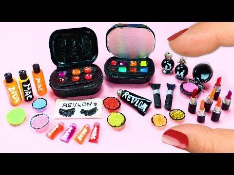 �� How to Make 10 Miniature Makeup Items / Cosmetic Products - 10 Easy DIY Miniature Doll Crafts