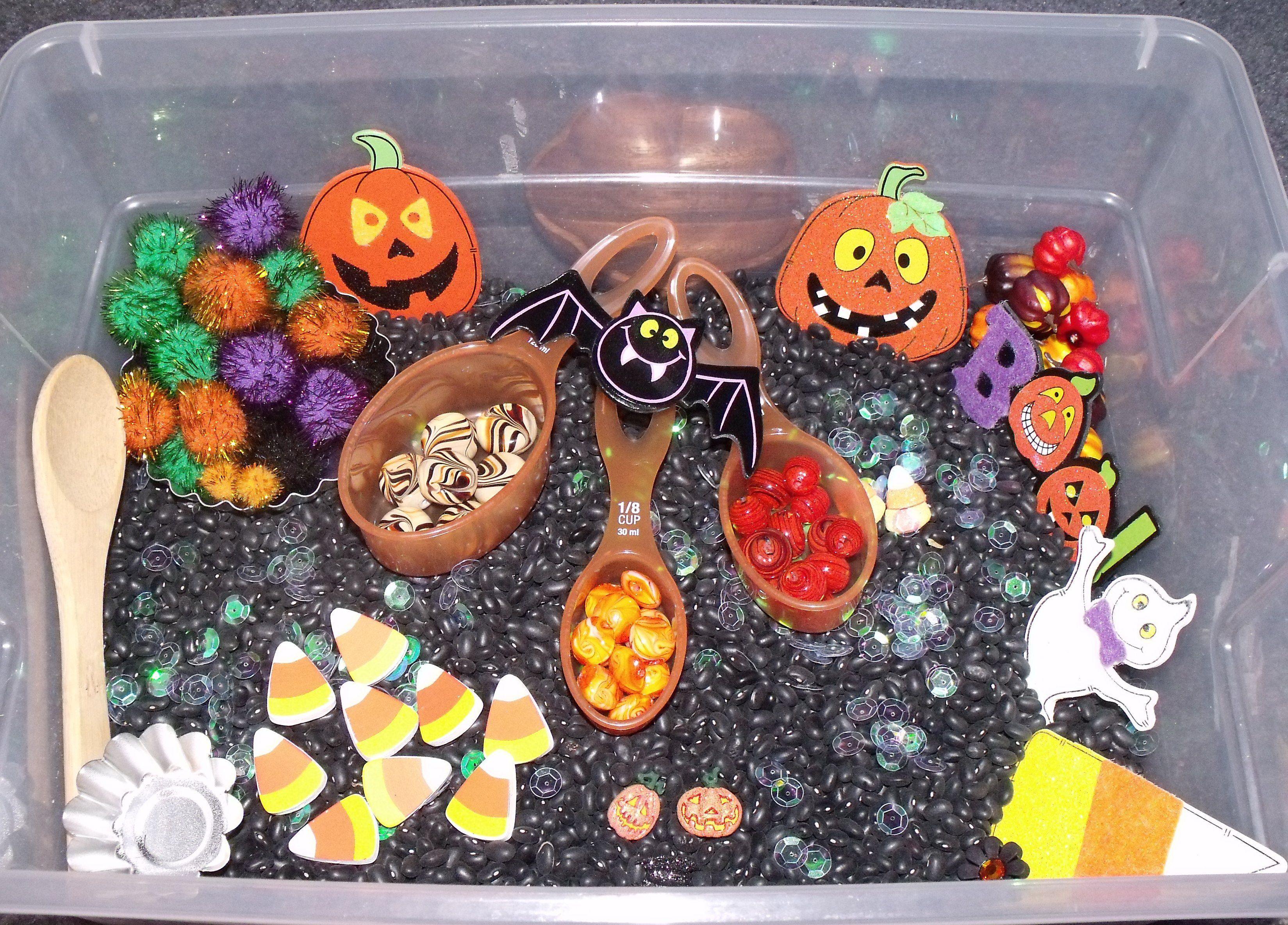October Sensory Tub Halloween Sensory Tub Halloween