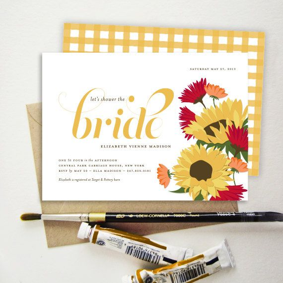 tuscan sunflower bridal shower invitation italian by snowandivy