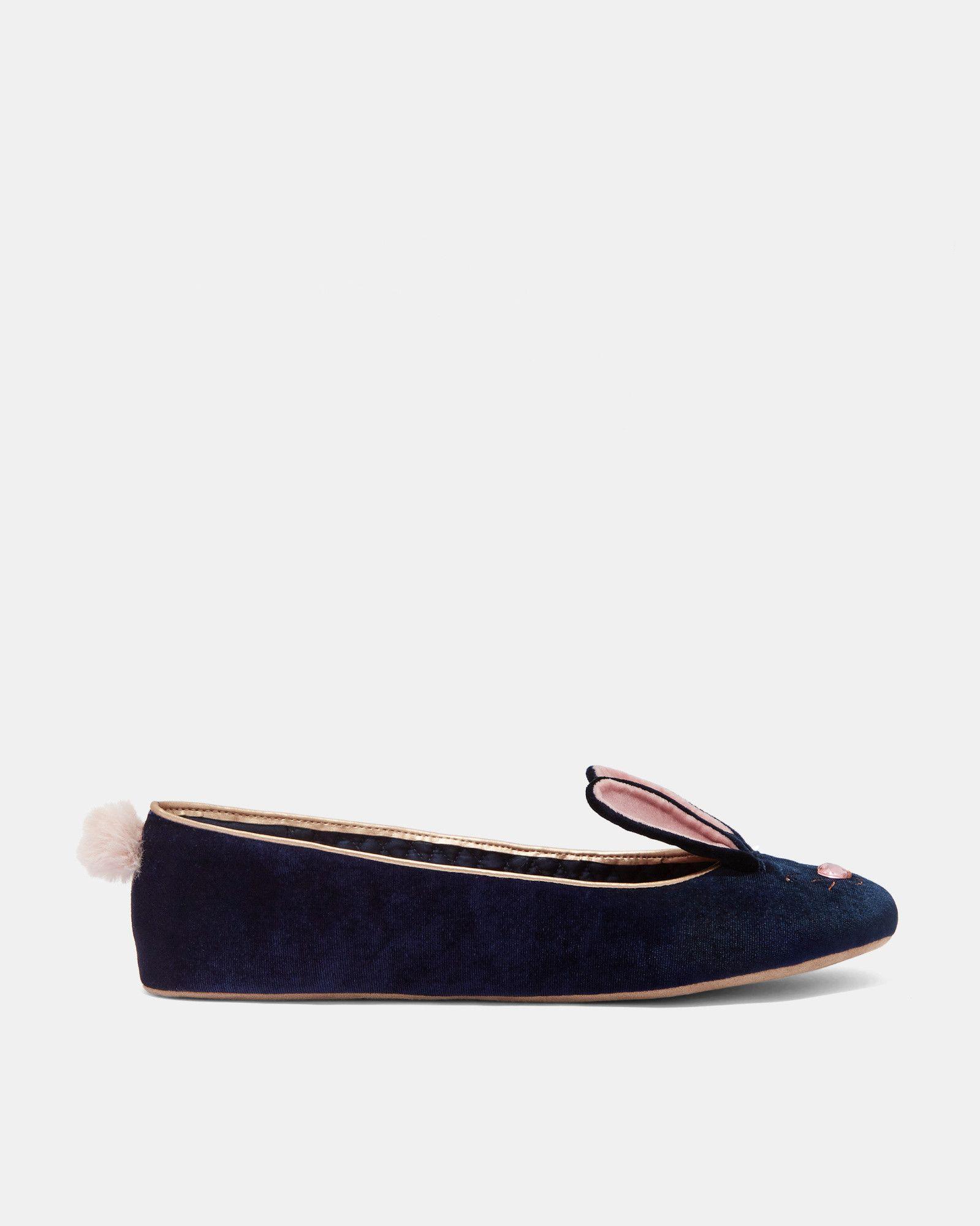 a9c59c4cb4d08a BHUNNI Velvet bunny ballerina slippers  TedToToe