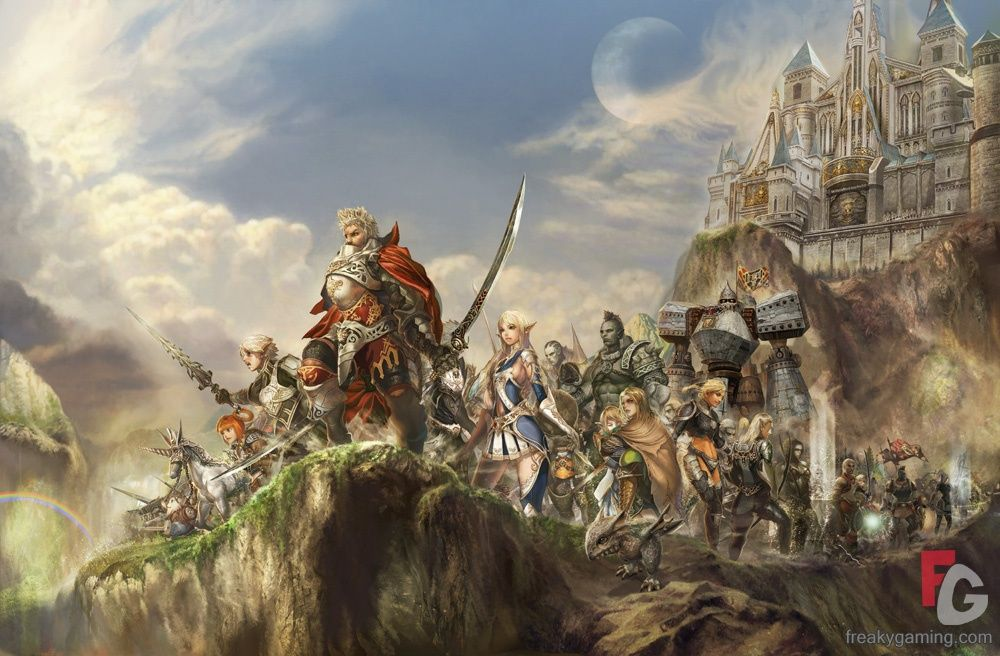 Lineage 2 fantasy artwork dungeons and dragons online art