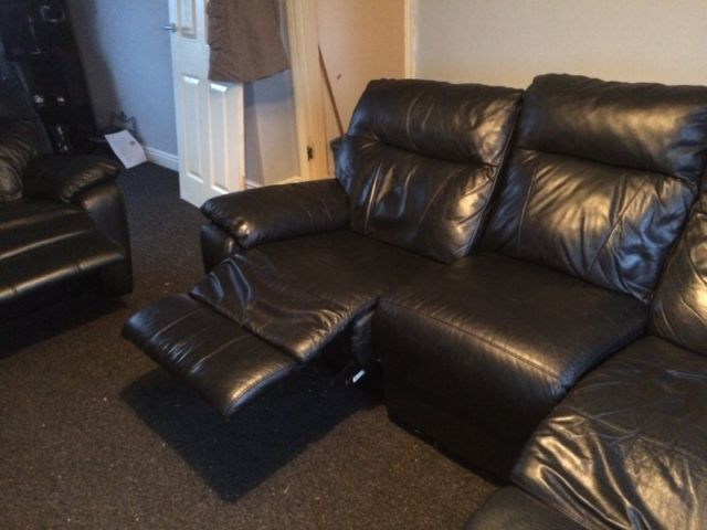Leather Manual Reclining Sofas On Gumtree. Selling One 3 Seater Reclining  Sofa And One 2