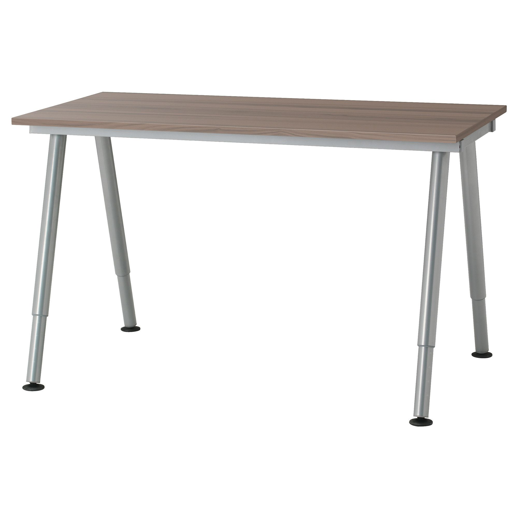 Galant Desk  Grey, A Leg, Silver Colour  Ikea