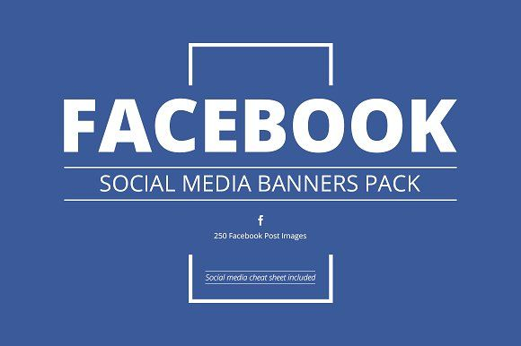 30 OFF Facebook Social Media Pack by Web Donut on @creativemarket