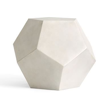 Dodecahedron Side Table #potterybarn