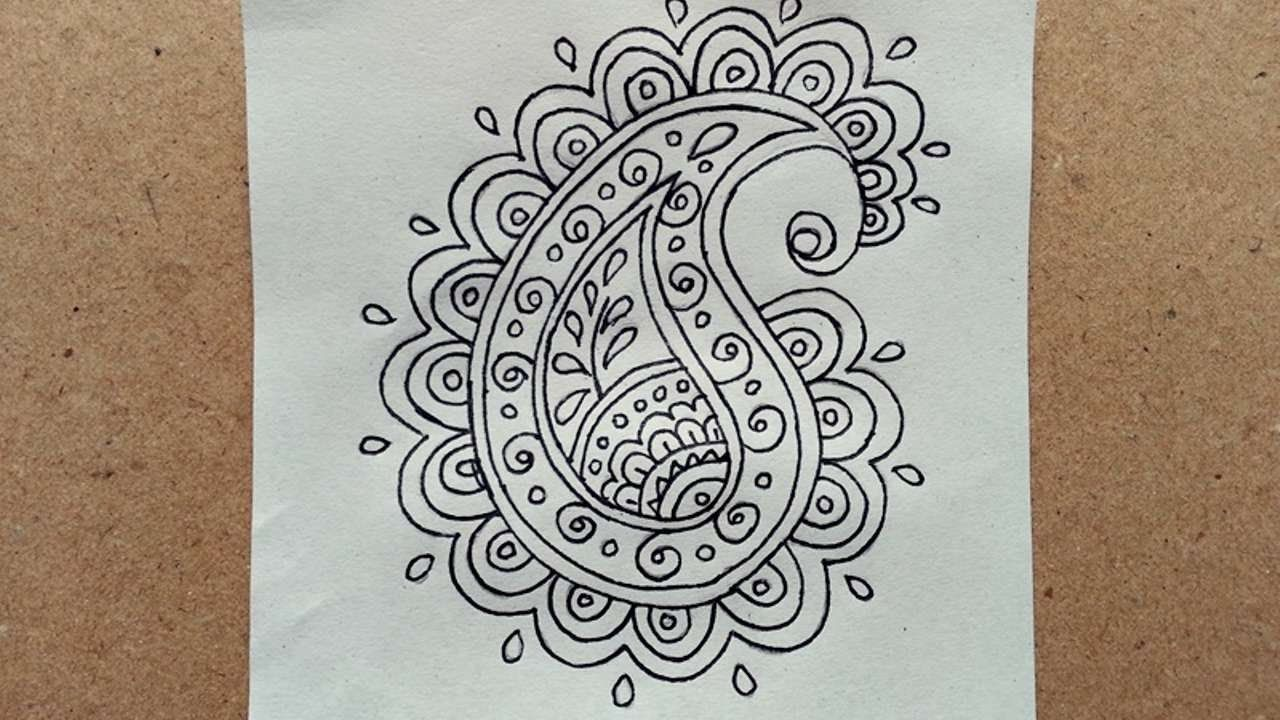 How To Draw A Simple Doodle Paisley - DIY Crafts Tutorial ...
