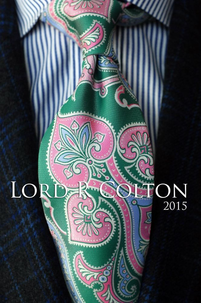 Lord R Colton Masterworks Tie Red /& Gold Stockholm Syndrome Necktie $195 New