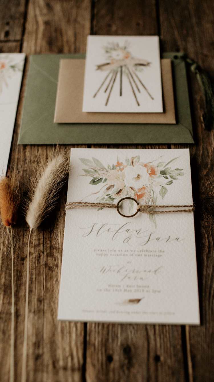 Watercolour Rustic Invites