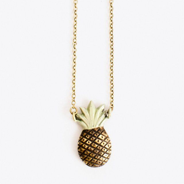 Pineapple Necklace in Mint by tombev