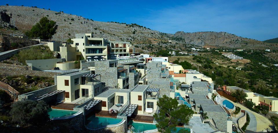 Lindos Blu Hotel In Village Rhodes