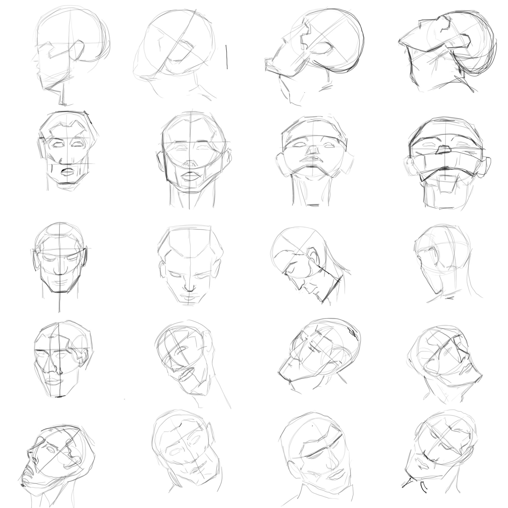 How To Draw The Female Head Tutorial takes you step by ...