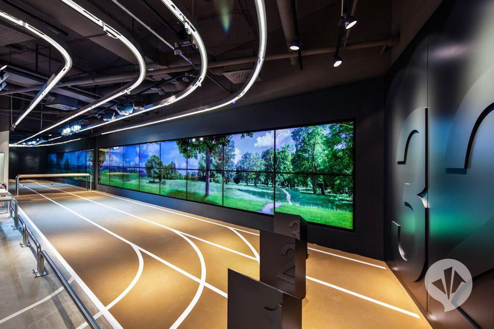 "RUNNERS POINT: the new ""World of Running"" is located in Dortmund | danpearlman #design #decor #eventprofs"