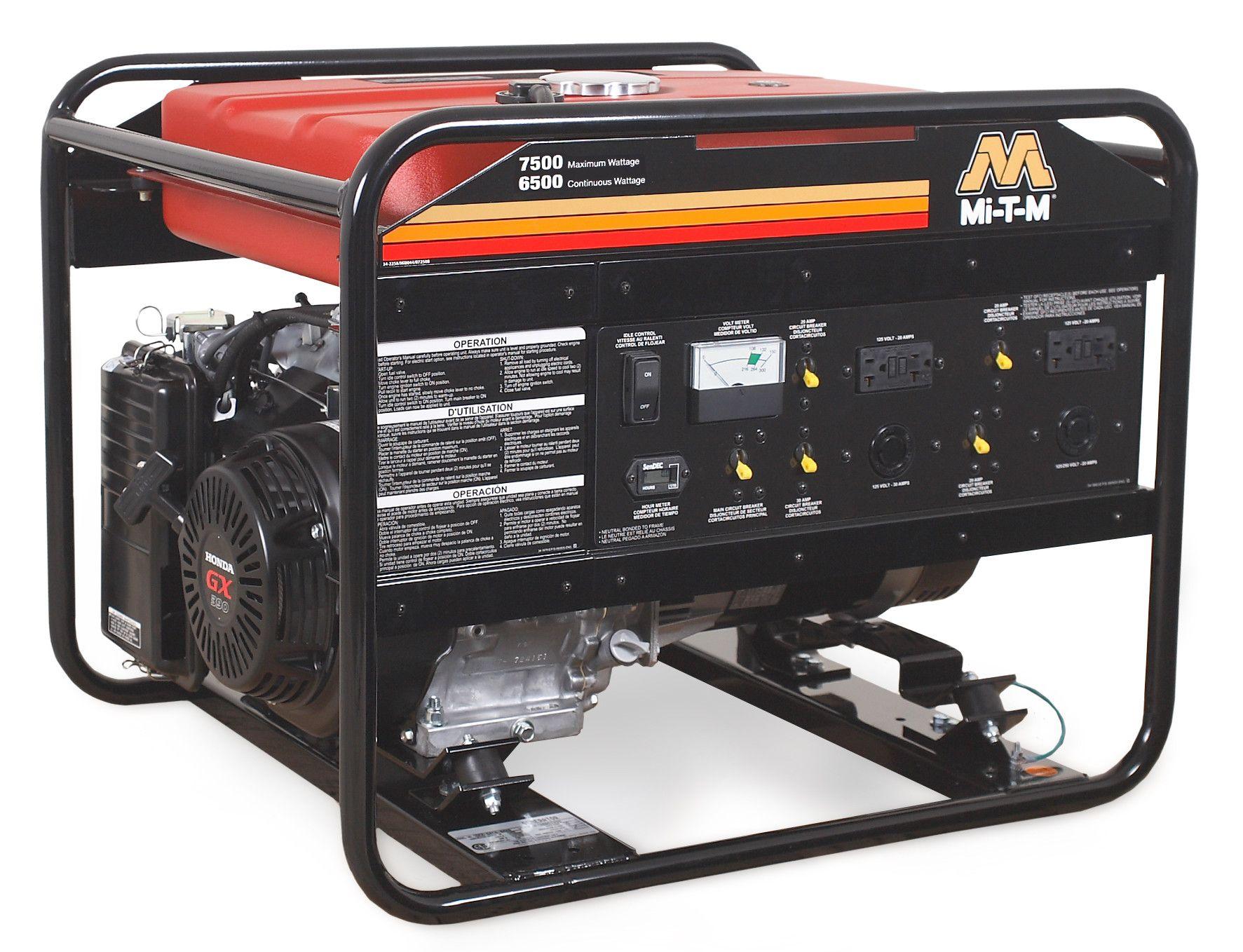7500 Watt CARB Portable Gasoline Generator Products