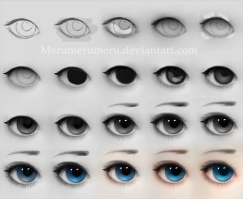 Ojos Paso A Paso En Color Munecas Pinterest Arte Como
