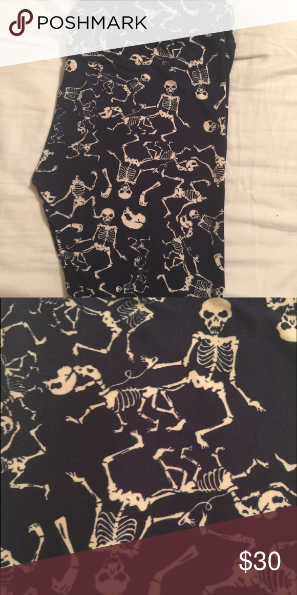 d3a712e2cf76d Lularoe Halloween Leggings OS Skeleton Dog Walker LuLaRoe Pants Leggings