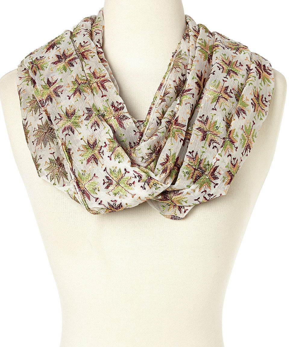 Look what I found on #zulily! White Mina Silk Infinity Scarf by Raj Imports #zulilyfinds