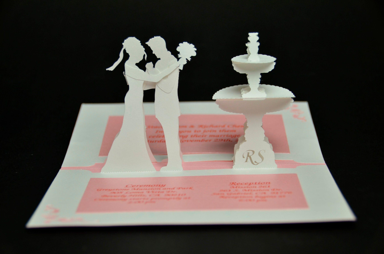 Convite para casamento tridimensional convites de casamento