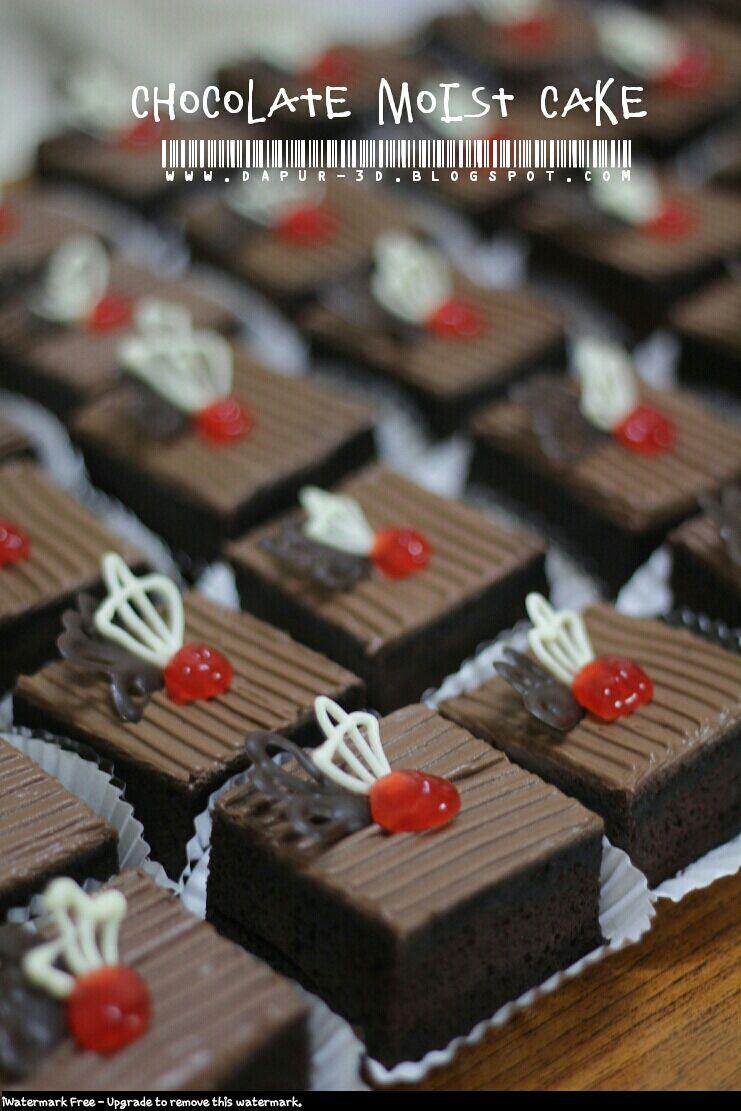 40 pc Chocolate Moist Cake potong ini orderan pertama dari gurunya