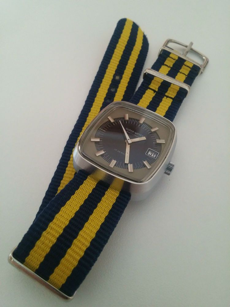 Reloj Super-Watch Vintages retro 70 s hand winding, great condition (NOS)