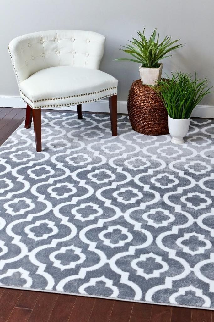 Amazon Com 3028 Gray Moroccan Trellis 7 10x10 6 Area Rug Carpet Large New Home Kitchen Rugs On Carpet Decor Rugs