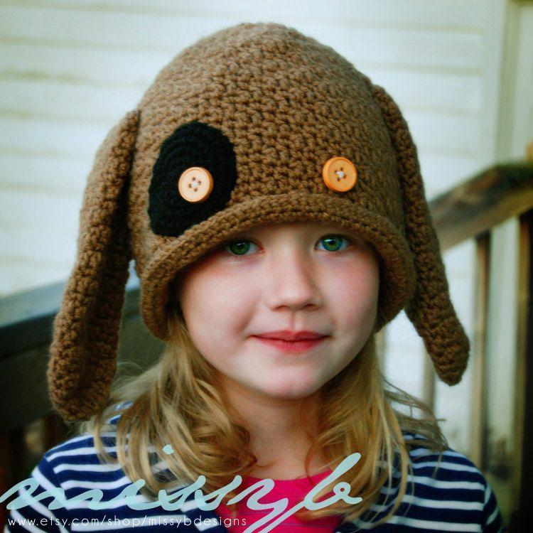 Pdf Pattern Crochet Hat Pattern Puppy Dog Hat Easy Boy Or