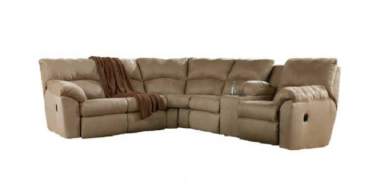 Ashley Amazon Polyester Reclining Sofa Sectional in Mocha  sc 1 st  Pinterest : amazon sofa sectionals - Sectionals, Sofas & Couches