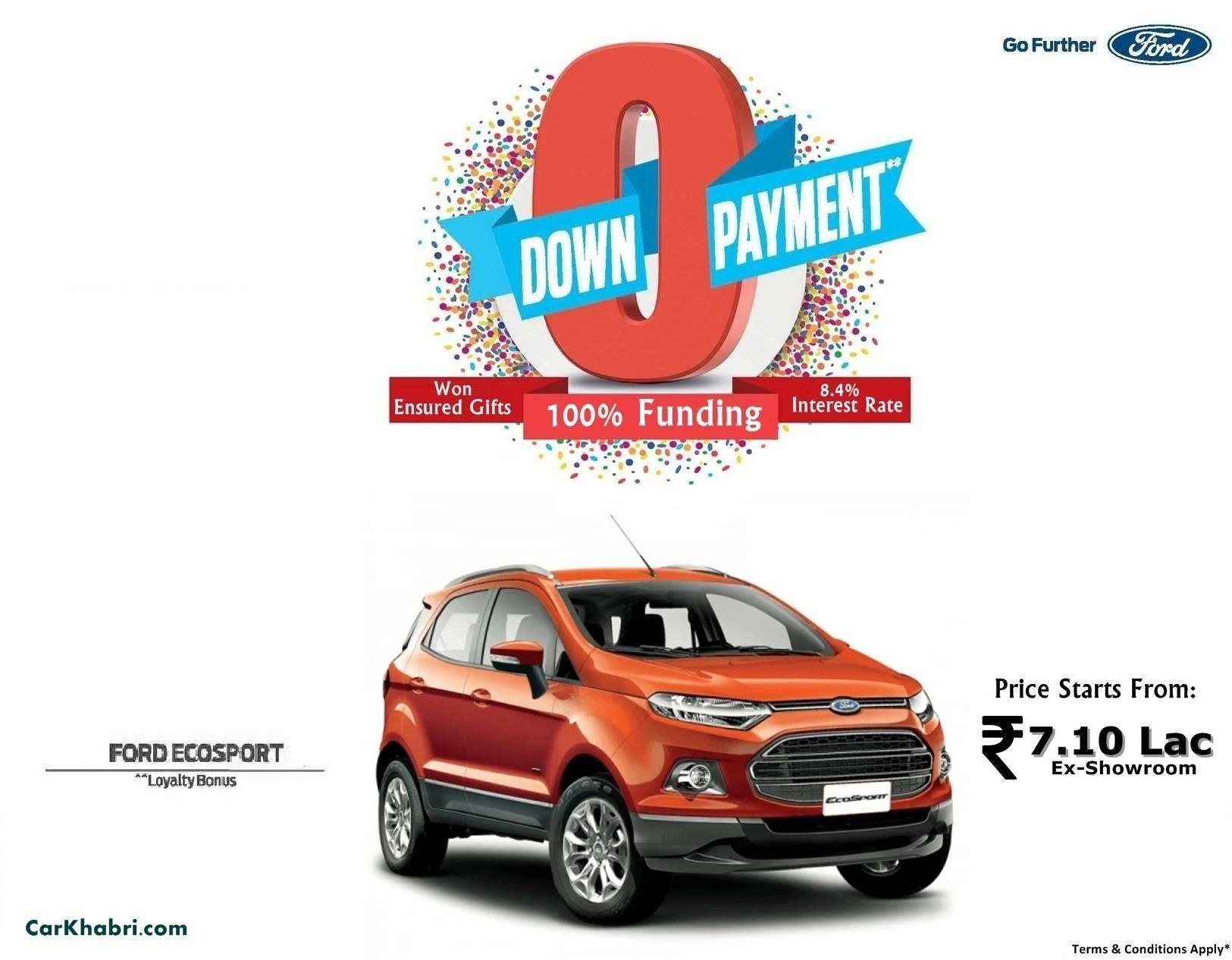 Ford Motor Company Offering The Ecosport Crossover With Few Discounts And Benefits To Its Indian Customers Check Out The Ford Ecosport Ford Upcoming Cars