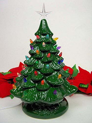 14 Retro Prelit Ceramic Tabletop Christmas Tree With 52 Multicolored Lights Check This Awesome Tabletop Christmas Tree Diy Felt Christmas Tree Christmas Tree