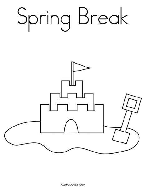 Spring Break Coloring Page - Twisty Noodle | Summer ...