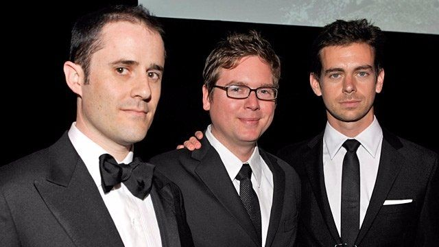 Twitter Founders Jack Dorsey Evan Williams And Biz Stone At An Event Evan Williams Evan Williams