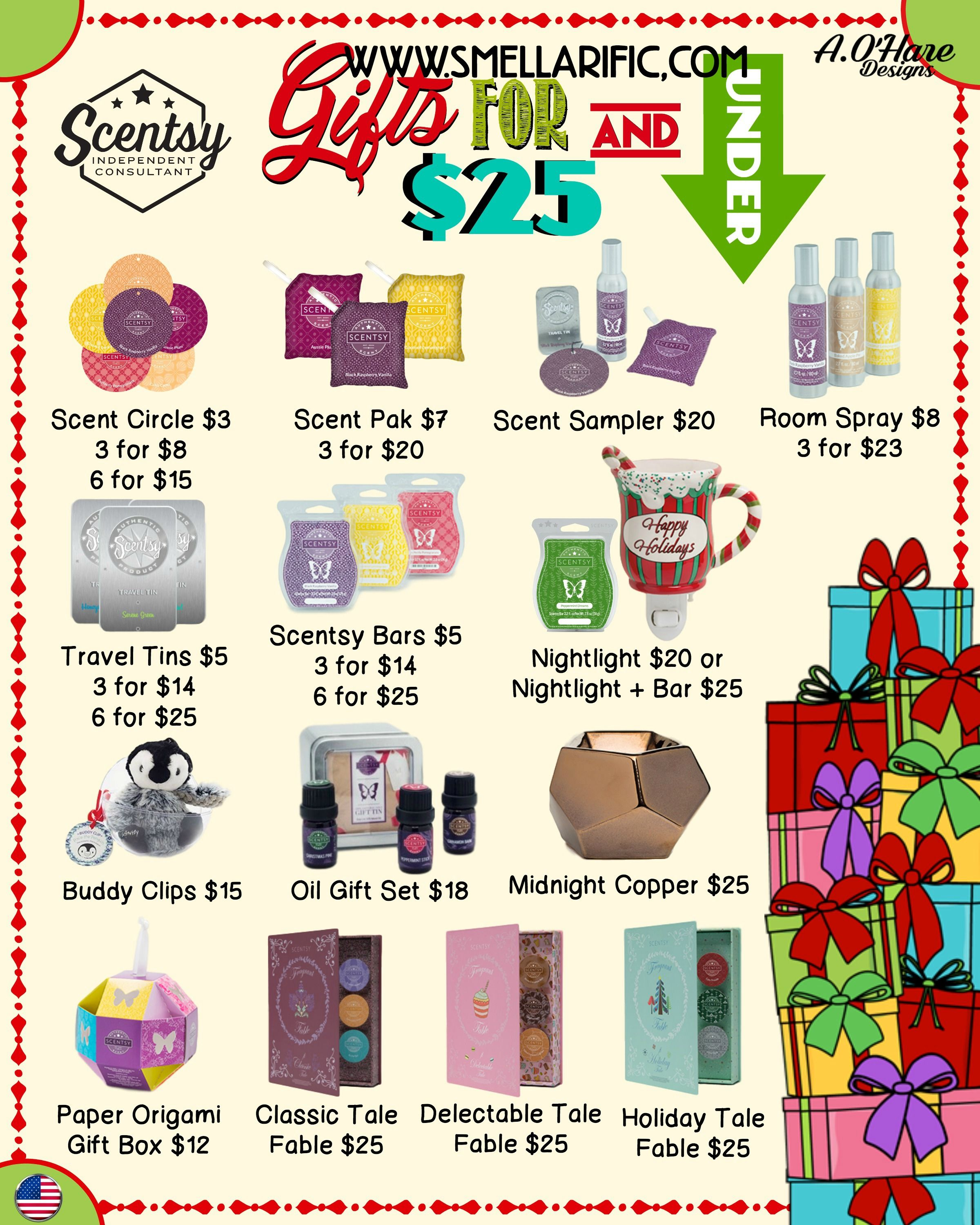 Scentsy gifts $25 & Under, just in time for the Holidays. Order ...