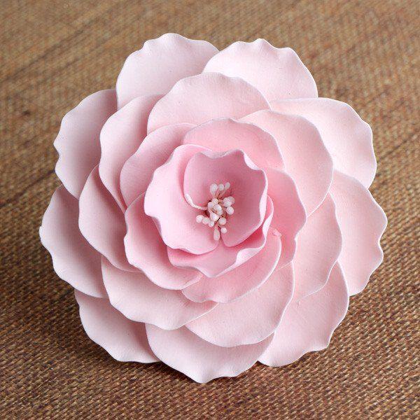 Large Briar Roses Pink Gumpaste Roses Cake Fondant Flowers
