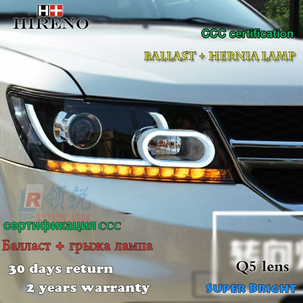Hireno Car Styling Headlamp For 2009 2017 Dodge Journey Headlight