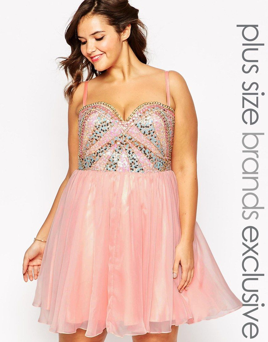 Forever Unique Prom Dress With Pastel Embellishment | Short Special ...