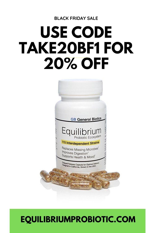 Equilibrium probiotic 30 daily capsules with prebiotic