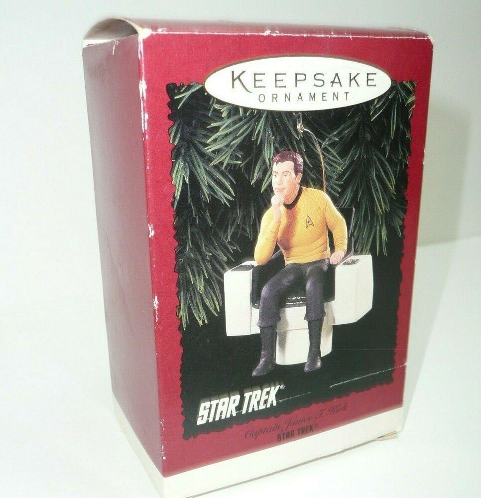 2020 Star Trek Captain Kirk Christmas Ornament Star Trek Ornament Captain James T Kirk in Chair Christmas