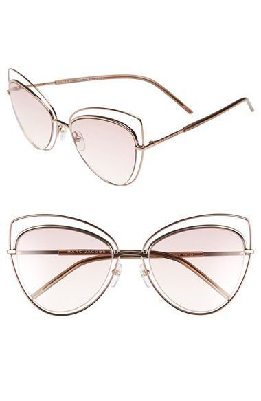 3bdb8dc47f Free shipping and returns on MARC JACOBS 56mm Cat Eye Sunglasses at  Nordstrom.com. Concentric wire frames create an airy cat-eye silhouette on  stunning ...