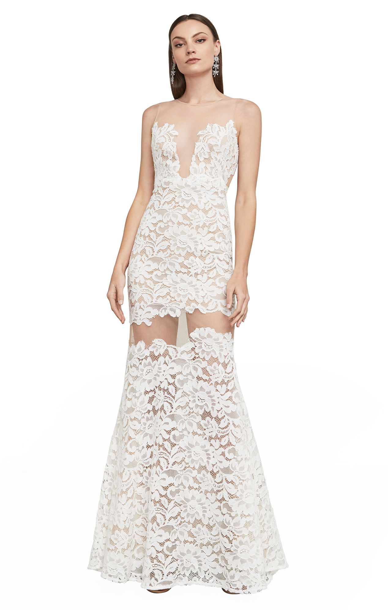 BCBGMAXAZRIA Rayna Floral Lace Gown   Clothes and Outfits ...